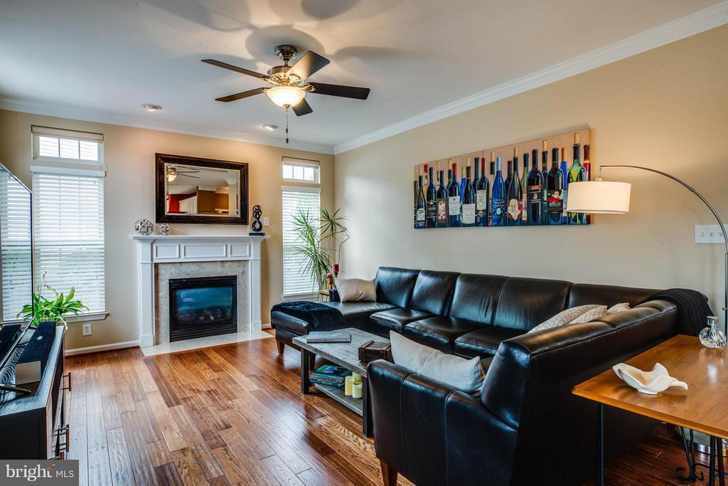 Cozy up by gas fireplace in family room - 4 KLINE CT, STAFFORD