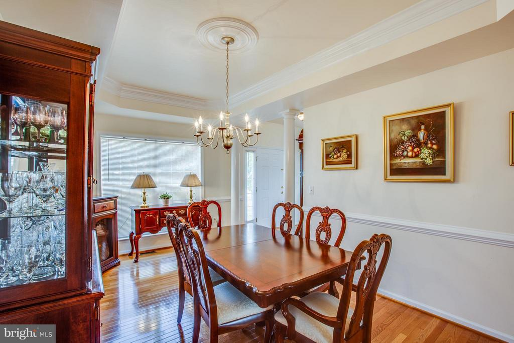 Check out the tray ceiling and decorative molding! - 7 GALLERY RD, STAFFORD
