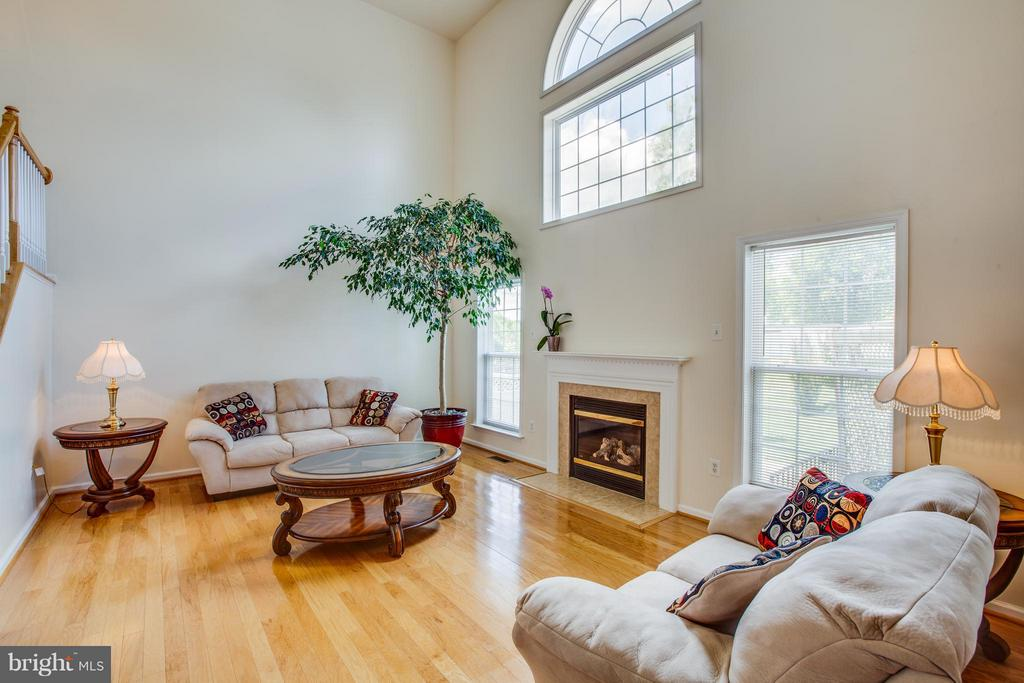 Cathedral window accentuates 2-story family room - 7 GALLERY RD, STAFFORD