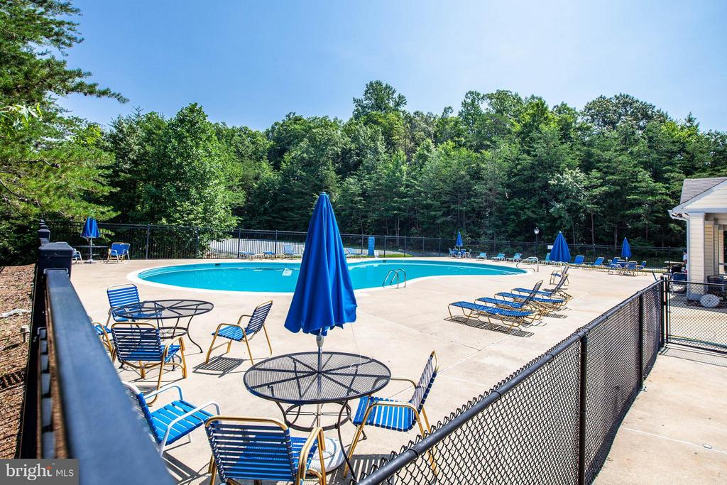 Cannonball! Community pool is great for quick dip - 1204 KINGS CREST DR, STAFFORD