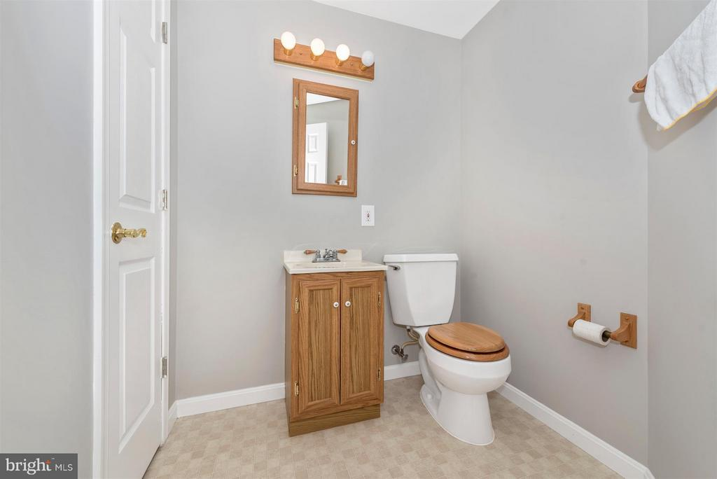 LOWER LEVEL POWDER ROOM - 6104 PINE CREST LN, FREDERICK