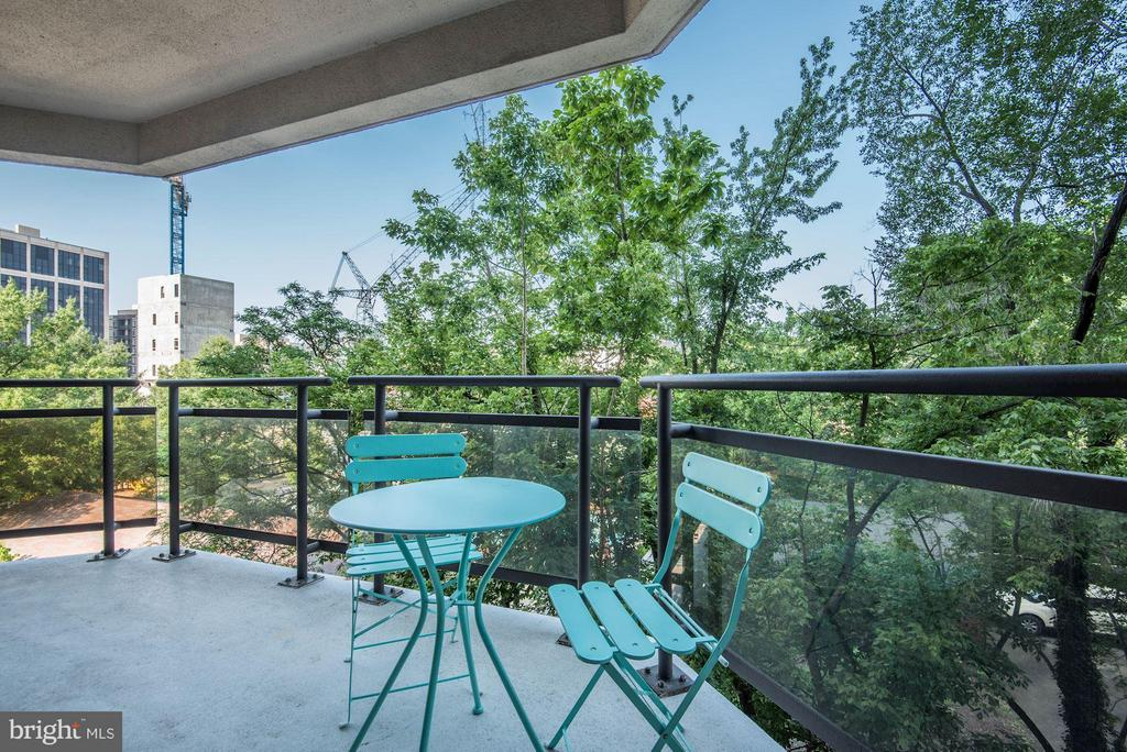 Private balcony view - 1530 KEY BLVD #410, ARLINGTON