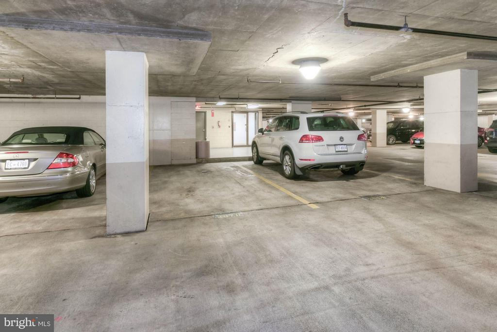 Parking spot (empty one) is right next to elevator - 1530 KEY BLVD #410, ARLINGTON