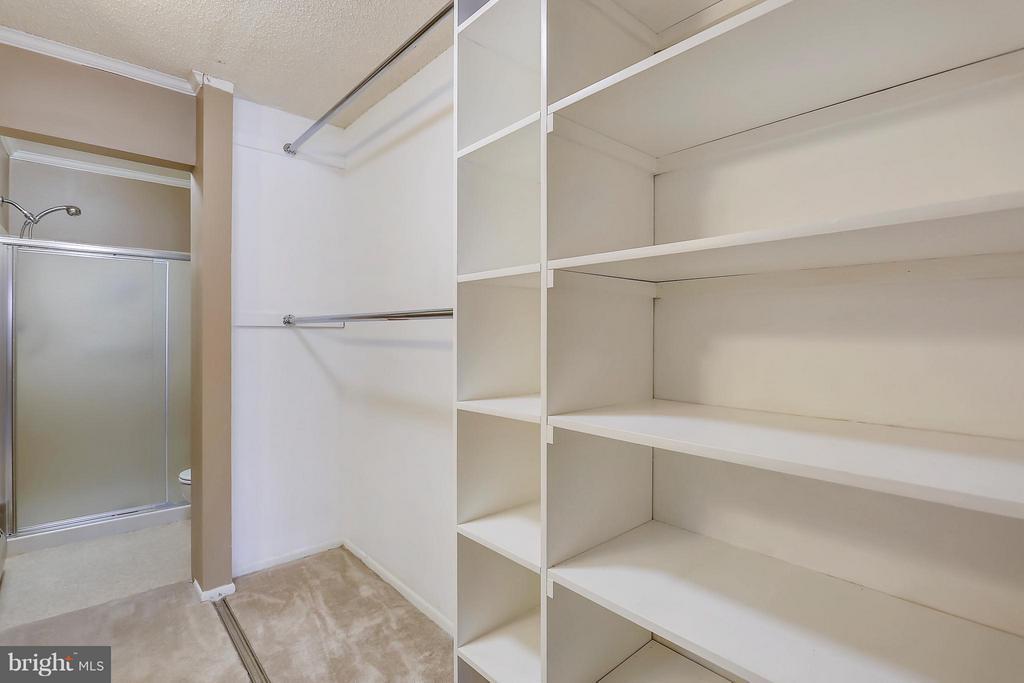 Long Closet with Shelving - 15100 GLADE DR #11-3E, SILVER SPRING