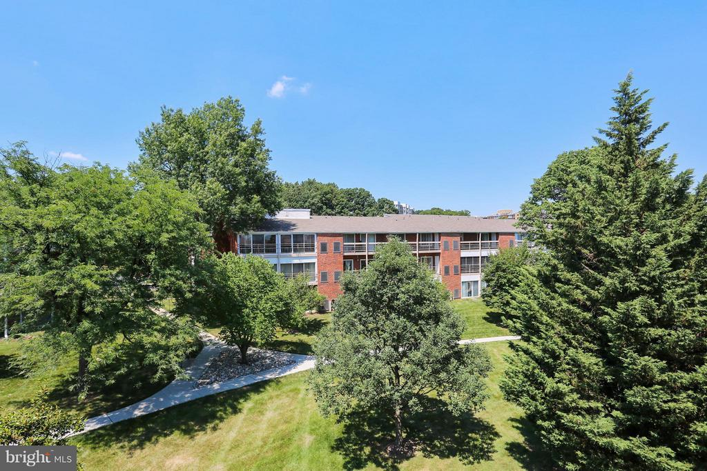 Green View from Balcony - 15100 GLADE DR #11-3E, SILVER SPRING