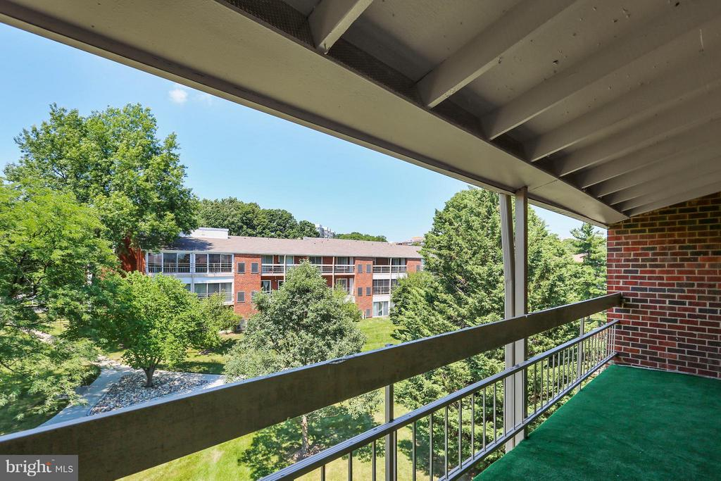 Balcony overlooking parklike setting - 15100 GLADE DR #11-3E, SILVER SPRING