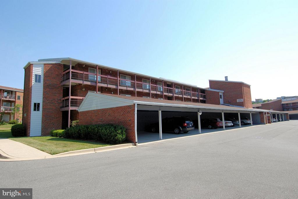 Carports with storage cabinets - 15100 GLADE DR #11-3E, SILVER SPRING