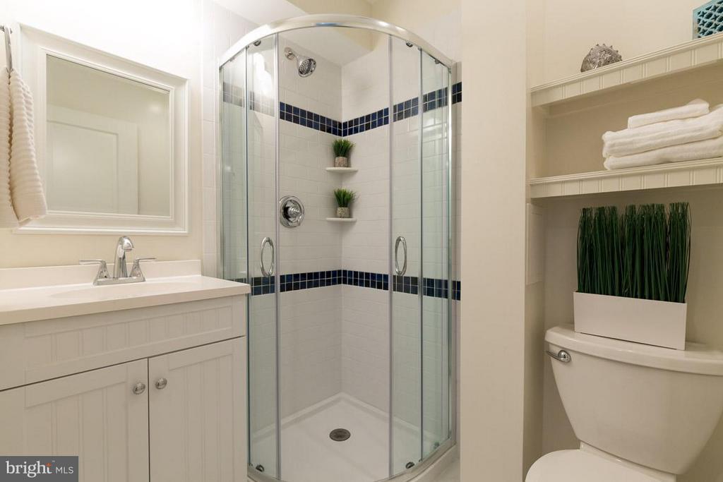 Lower level full bathroom remodeled 2018 - 2104 CARTWRIGHT PL, RESTON