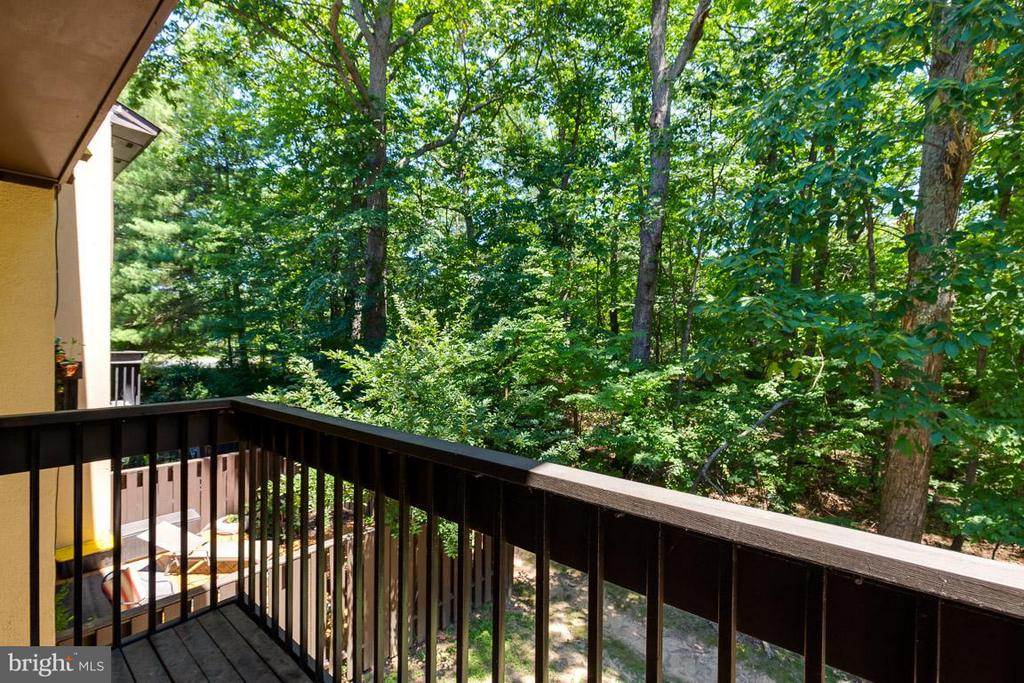 Wooded common area views from balcony - 2104 CARTWRIGHT PL, RESTON