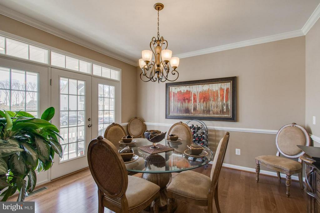 Dining Room with custom moldings - 10339 SPRING IRIS DR, BRISTOW