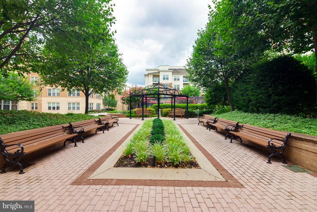 Community Courtyard w/ Pool and Grills - 12000 MARKET ST #151, RESTON