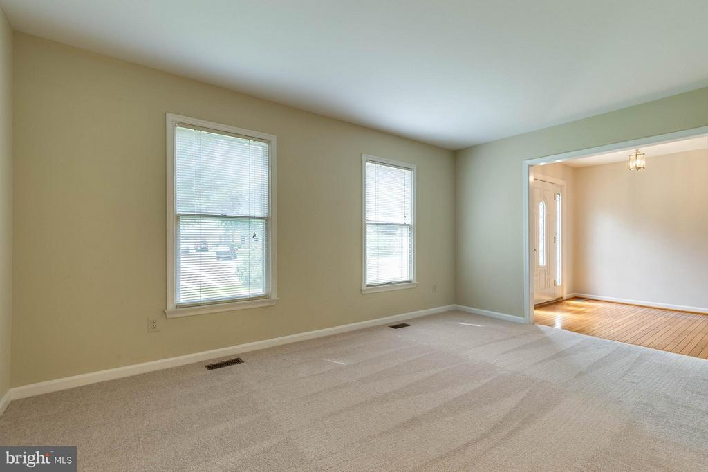 Just on the right is this wonderful living room! - 9820 WESTWOOD MANOR CT, BURKE