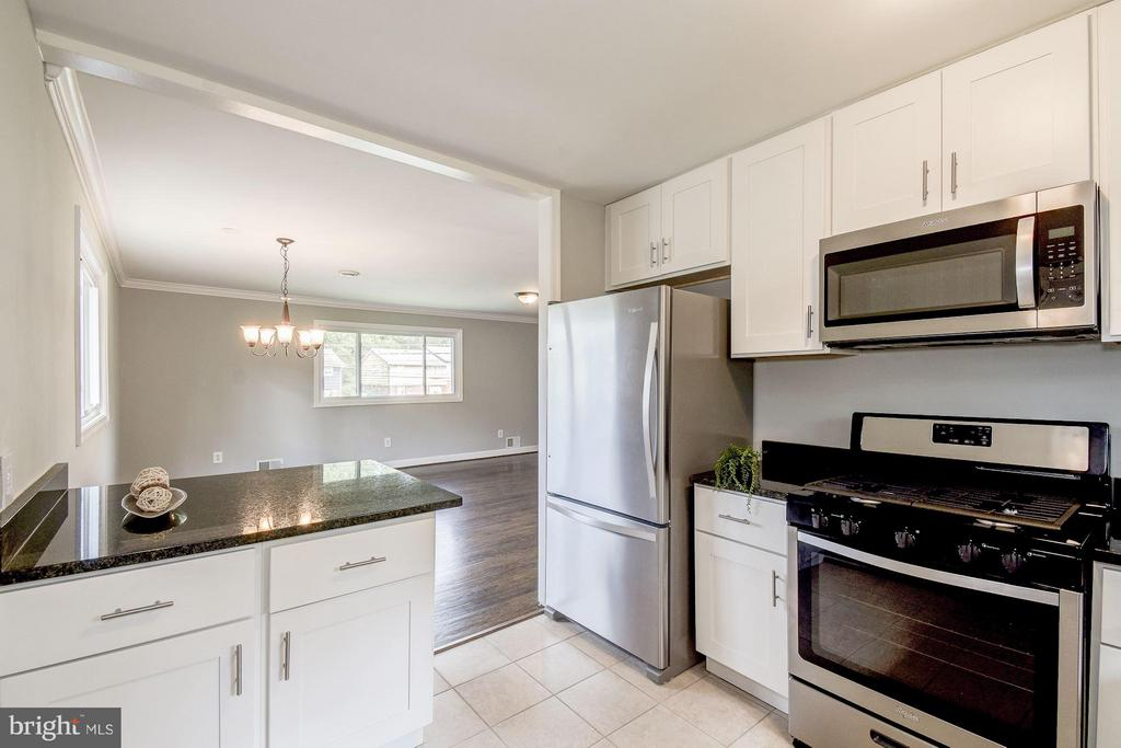 Kitchen with Stainless Steel Appliances - 4416 LYONS ST, TEMPLE HILLS
