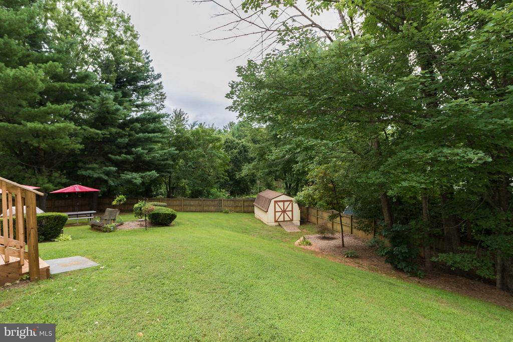Views of yard and surrounded by trees! - 14376 SPRINGBROOK CT, WOODBRIDGE
