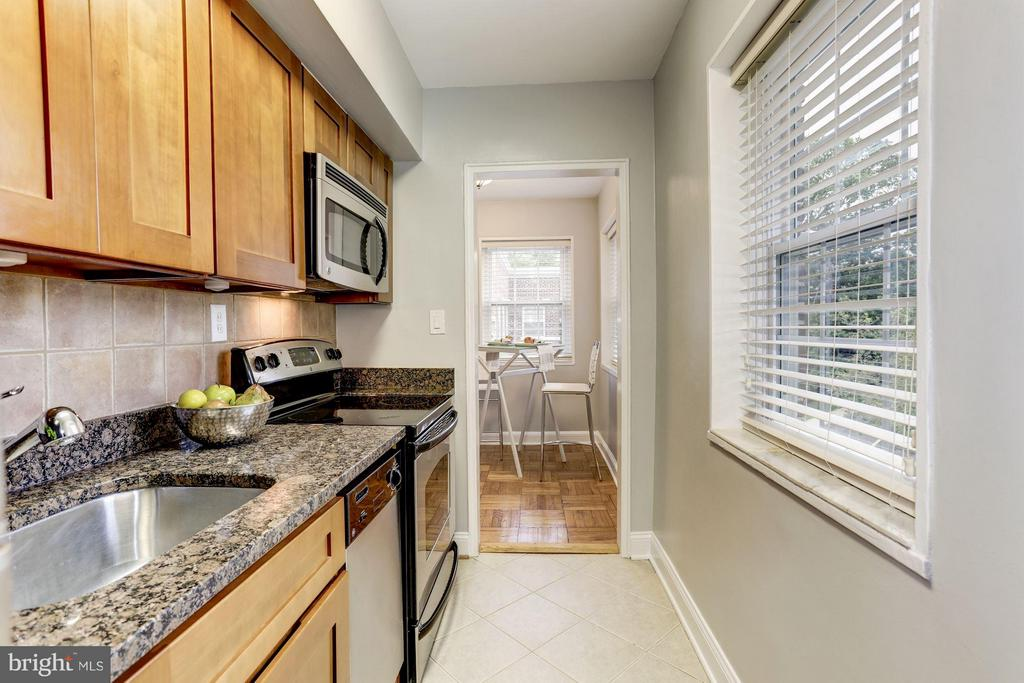 Kitchen leads out to the dining room - 1336 ODE ST #16, ARLINGTON