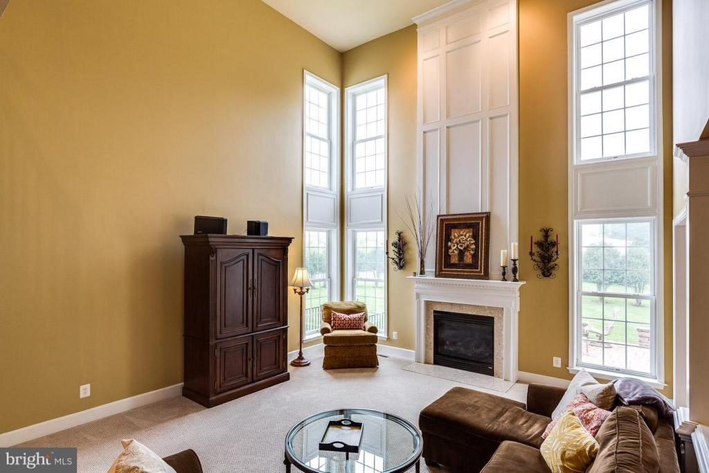2-Story Family Room With Gas Fireplace - 21135 WHITE CLAY PL, LEESBURG