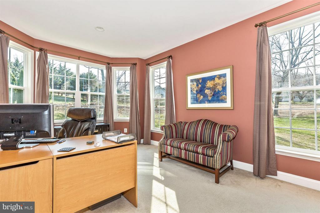 Home office with lots of light and french doors! - 6653 SOUTH CLIFTON RD, FREDERICK