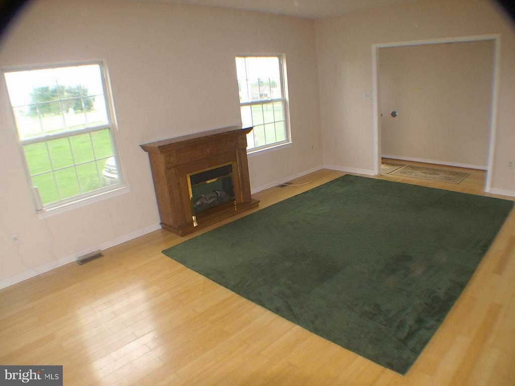 Family Room with nice electric fireplace conveys - 1919 WITHERS LARUE RD., BERRYVILLE