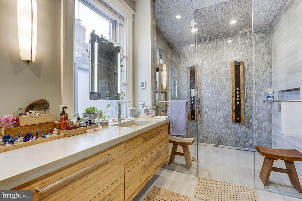 Spa-Like Master Bathroom with Walk-In Steam Shower - 506 A ST SE, WASHINGTON