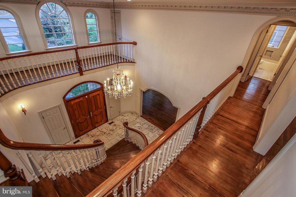 View from upper level overlooking foyer - 612 LIVE OAK DR, MCLEAN