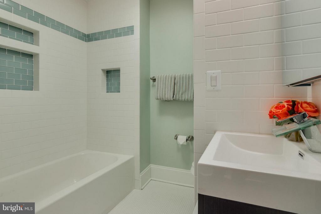 Hall Bath - Heated tile floor - 9 E 2ND ST #2B, FREDERICK