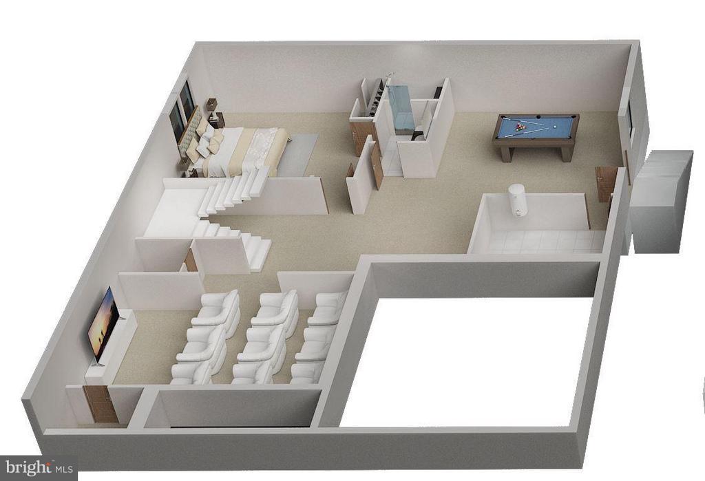 Garage Level - 3D - 6713 19TH ST N, ARLINGTON