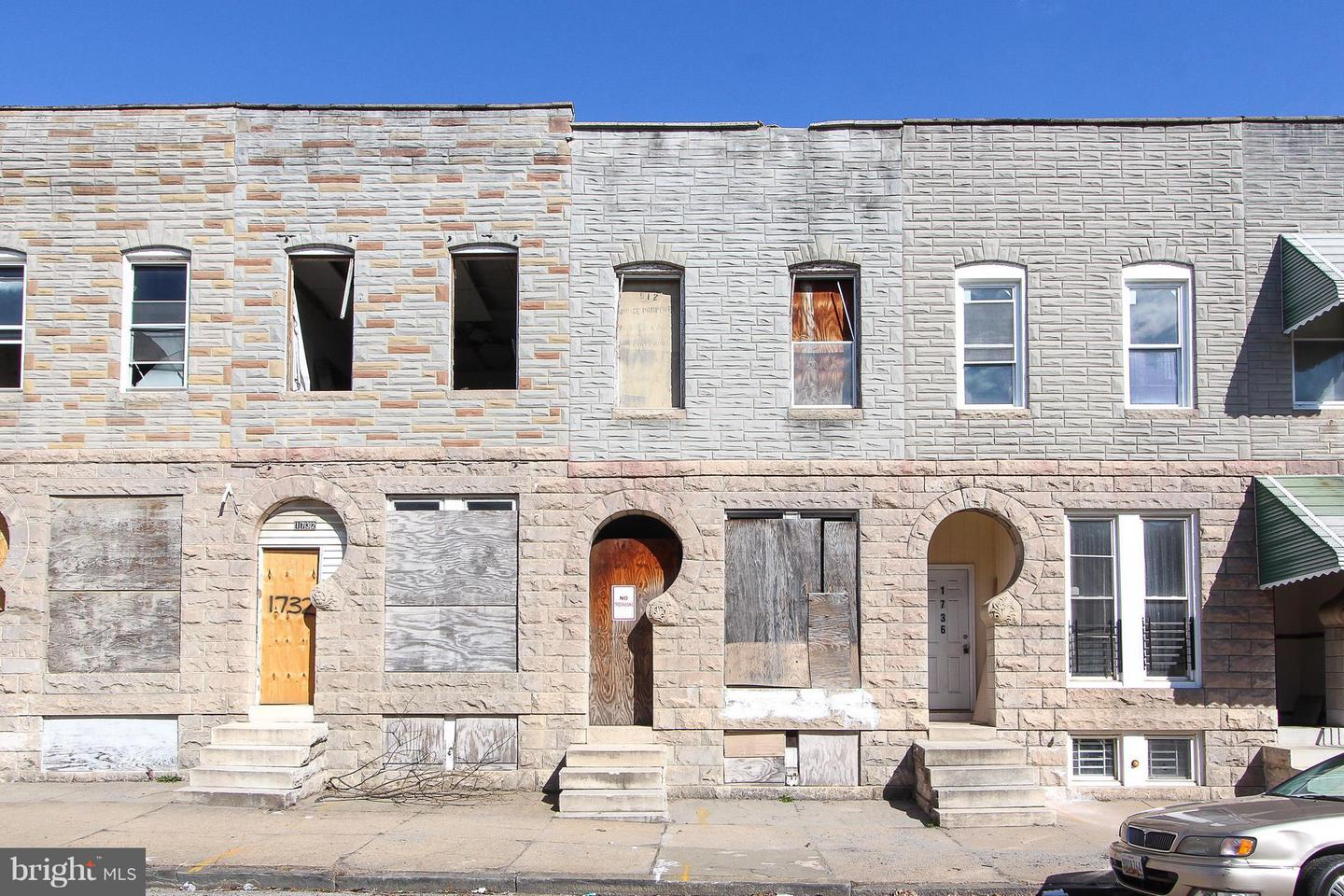 Single Family for Sale at 1734 Oliver St E Baltimore, Maryland 21213 United States
