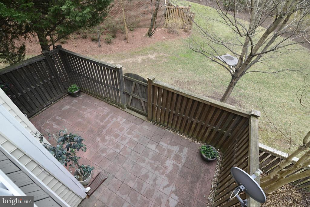 View of Backyard from Deck - 12240 DORRANCE CT, RESTON