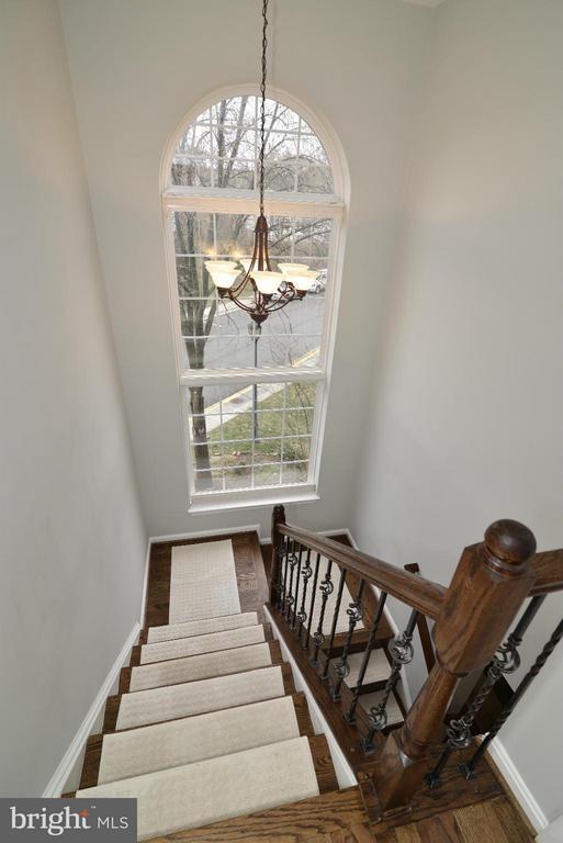 Staircase from Upper Landing - 12240 DORRANCE CT, RESTON