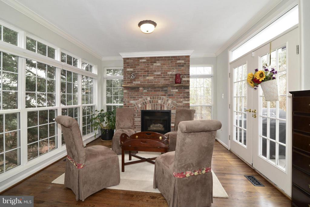 Sun Room with Brick Fireplace - 12240 DORRANCE CT, RESTON
