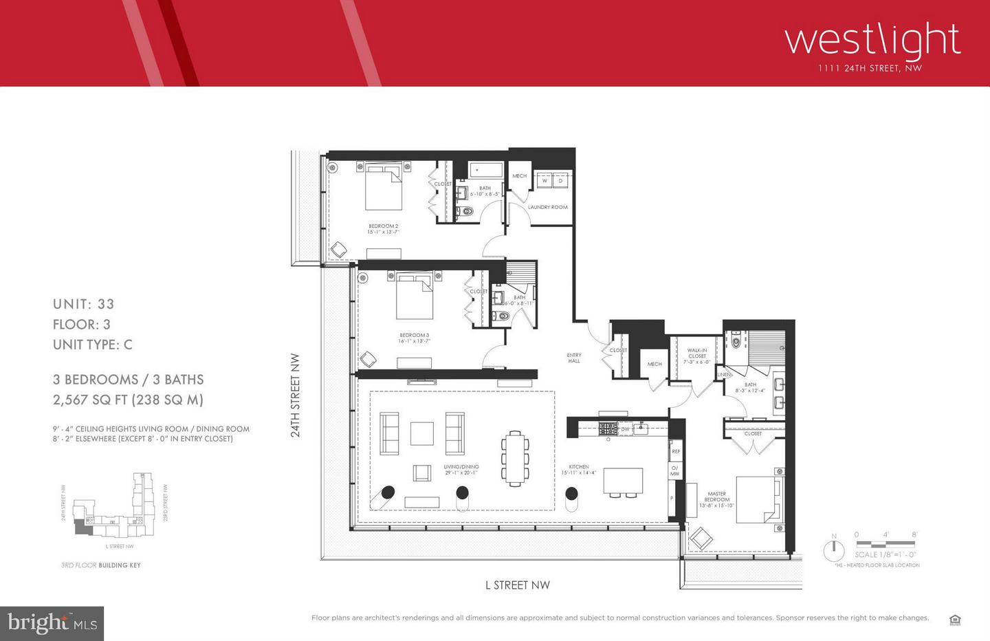 Single Family Home for Sale at 1111 24th St Nw #3-C 1111 24th St Nw #3-C Washington, District Of Columbia 20037 United States