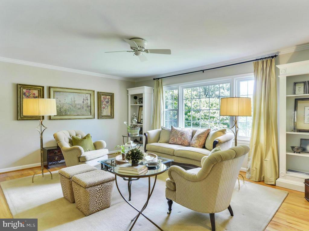 Exquisite light filled living room - 3901 PINE BROOK RD, ALEXANDRIA