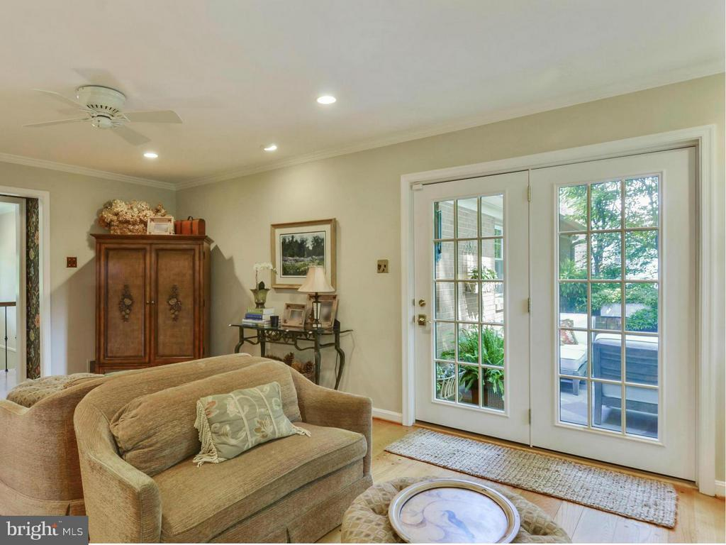 French doors lead to one of 3 stone patios - 3901 PINE BROOK RD, ALEXANDRIA