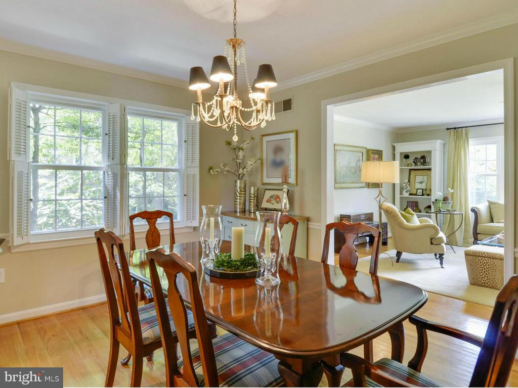 Dining Room opens to spacious living area - 3901 PINE BROOK RD, ALEXANDRIA