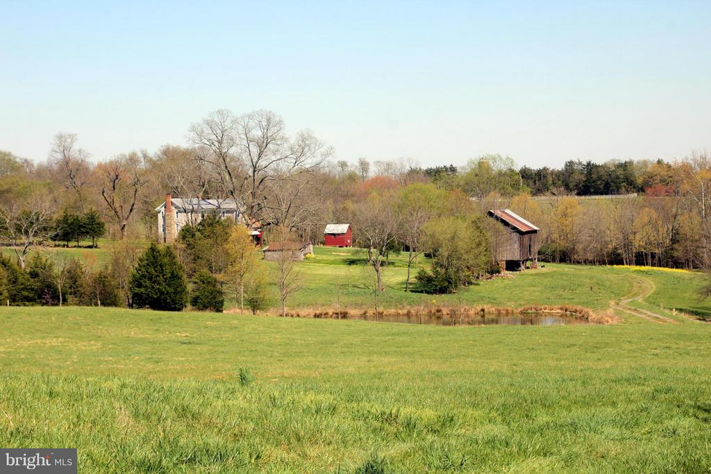 Looking at the house from the back field - 3374 TWYMANS MILL RD, ORANGE
