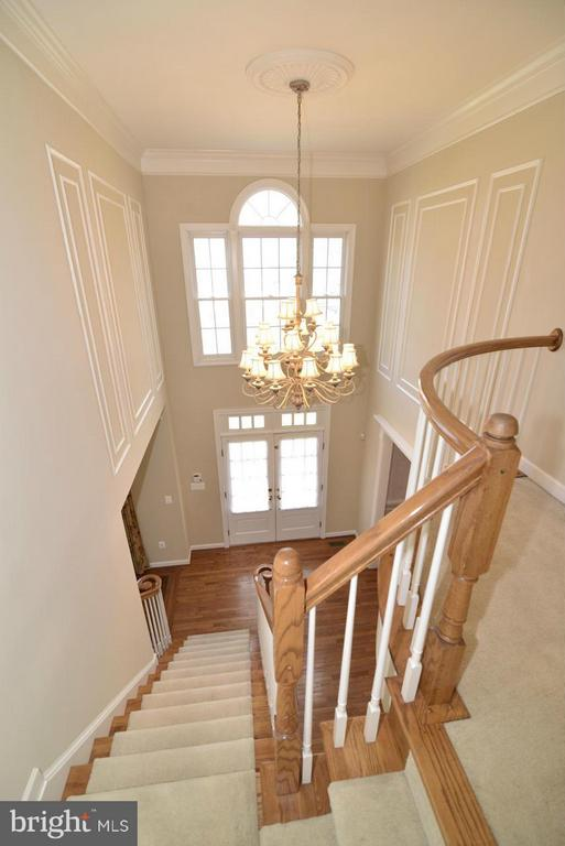 Overlook to entry foyer with double entry doors - 20736 ASHBURN STATION PL, ASHBURN