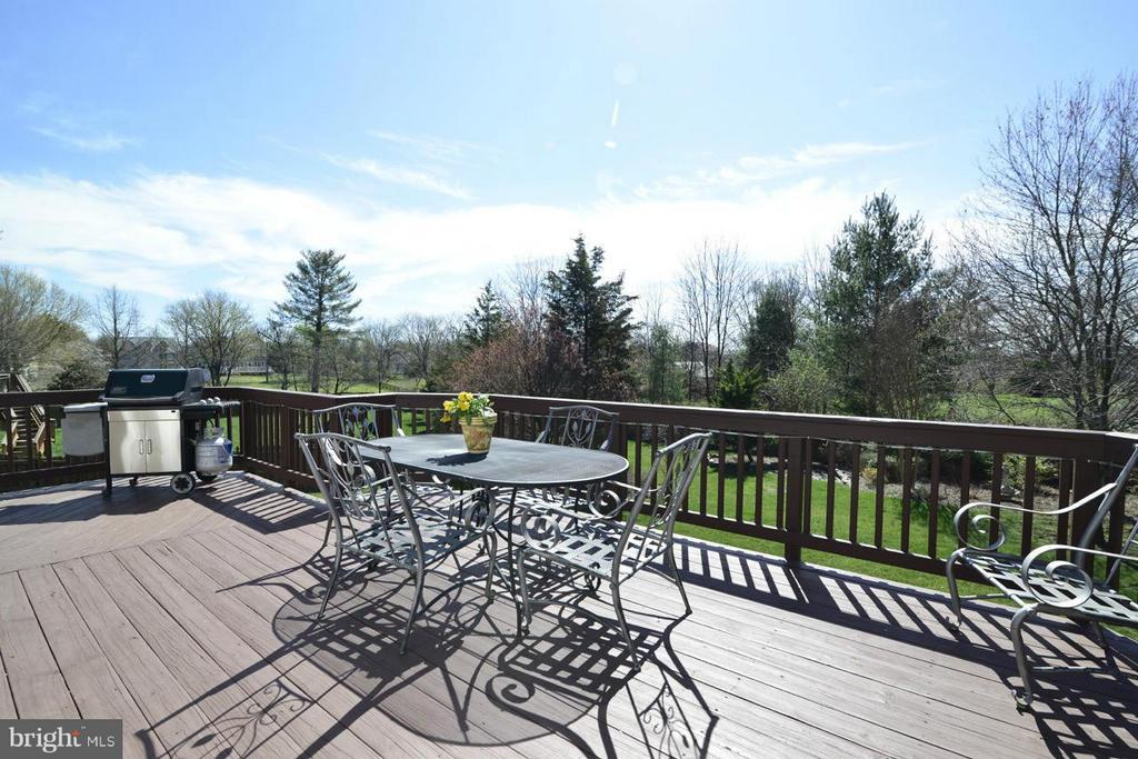 Deck with view to nearly 1/2 acre back yard! - 20736 ASHBURN STATION PL, ASHBURN
