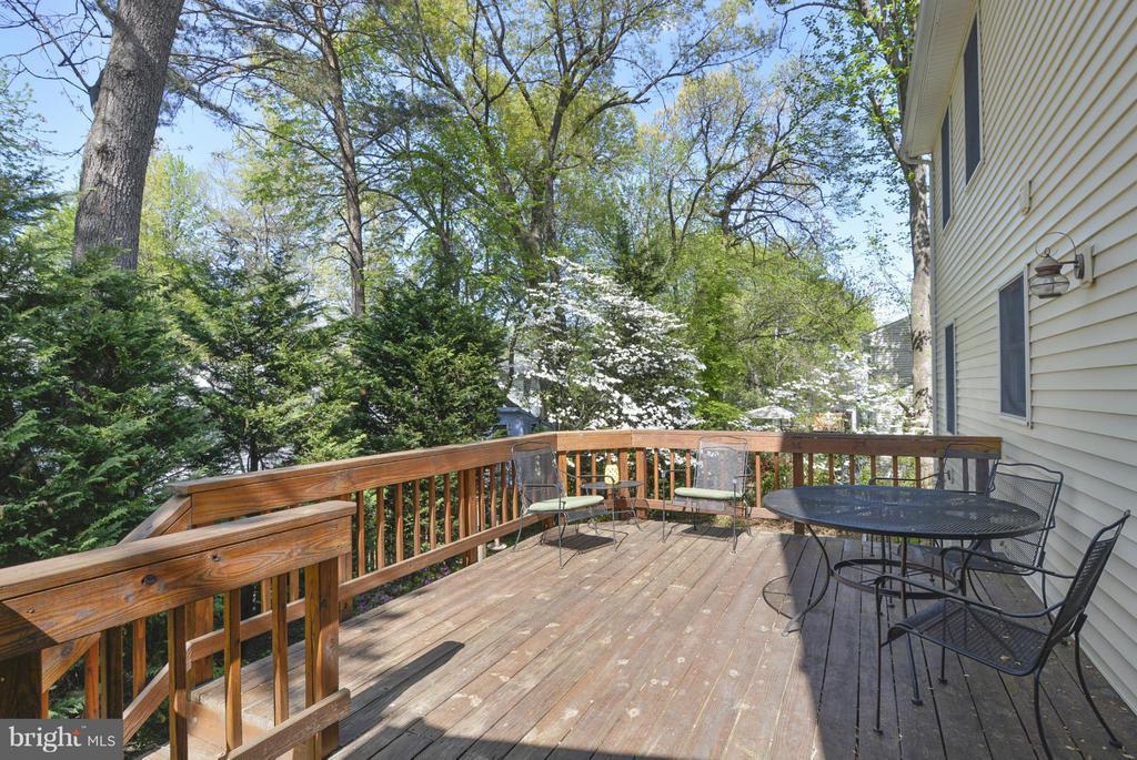 Large deck overlooks beautiful backyard - 790 3RD ST, HERNDON