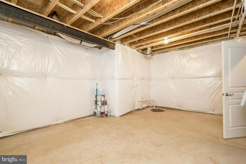 Unfinished Storage Room in Basement - 5985 TWIN BRANCH CT, HAYMARKET