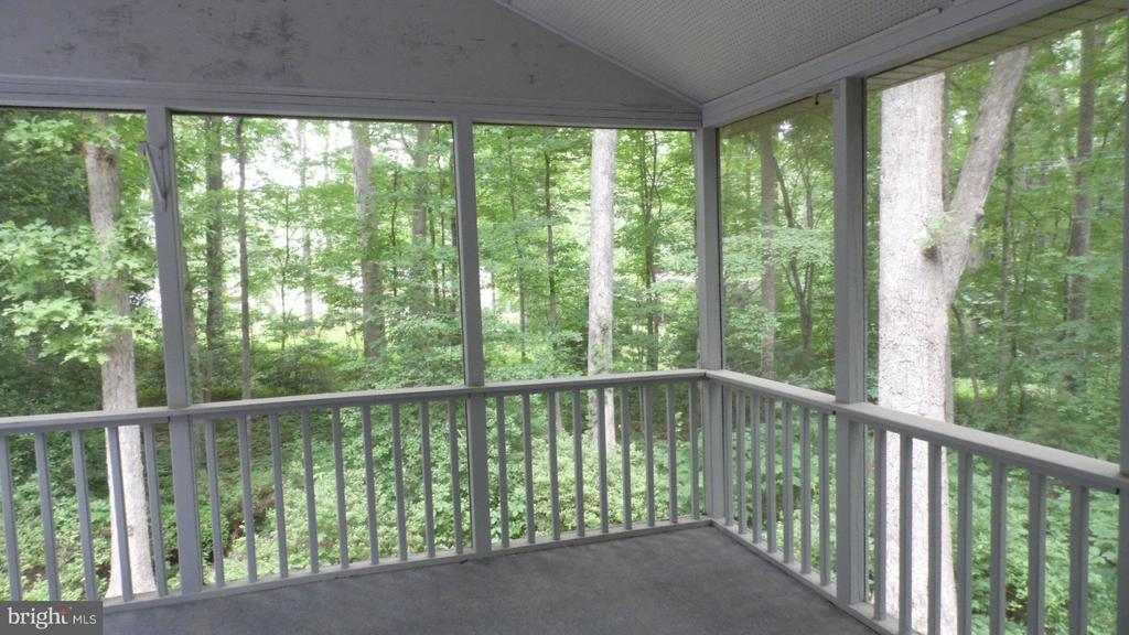 Screened Porch overlooks beautiful wooded backdrop - 113 SILVER SPRING DR, LOCUST GROVE