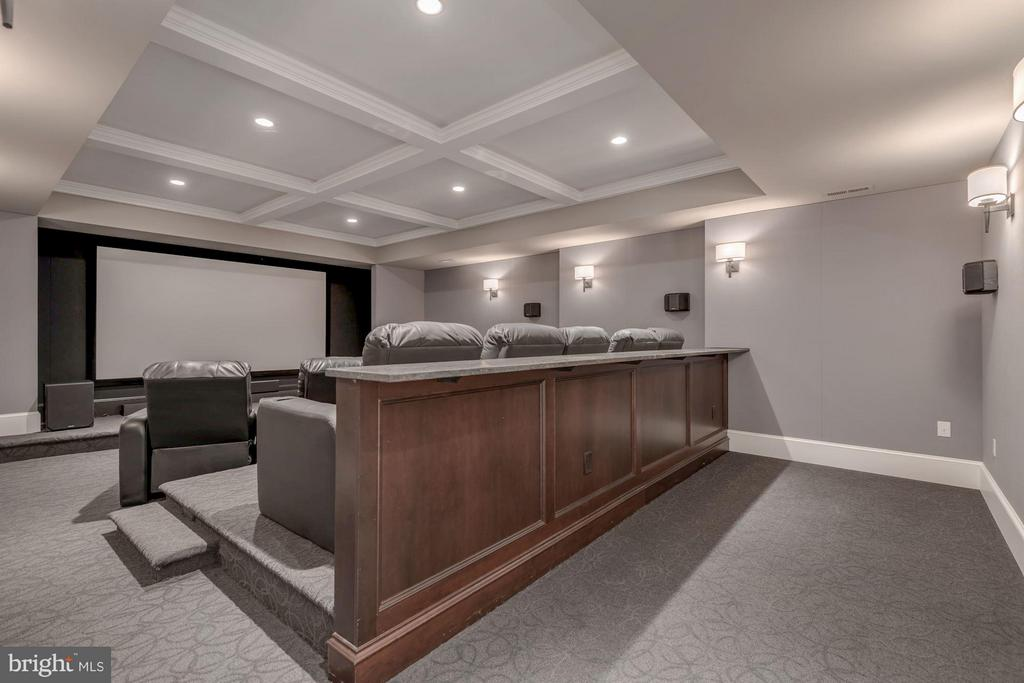 Basement Movie Theater - 10603 CREAMCUP LN, GREAT FALLS