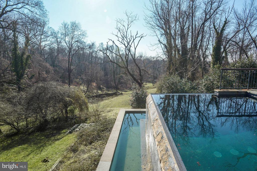 Stunning infinity pool,  Battery Kemble Park views - 3101 CHAIN BRIDGE RD NW, WASHINGTON