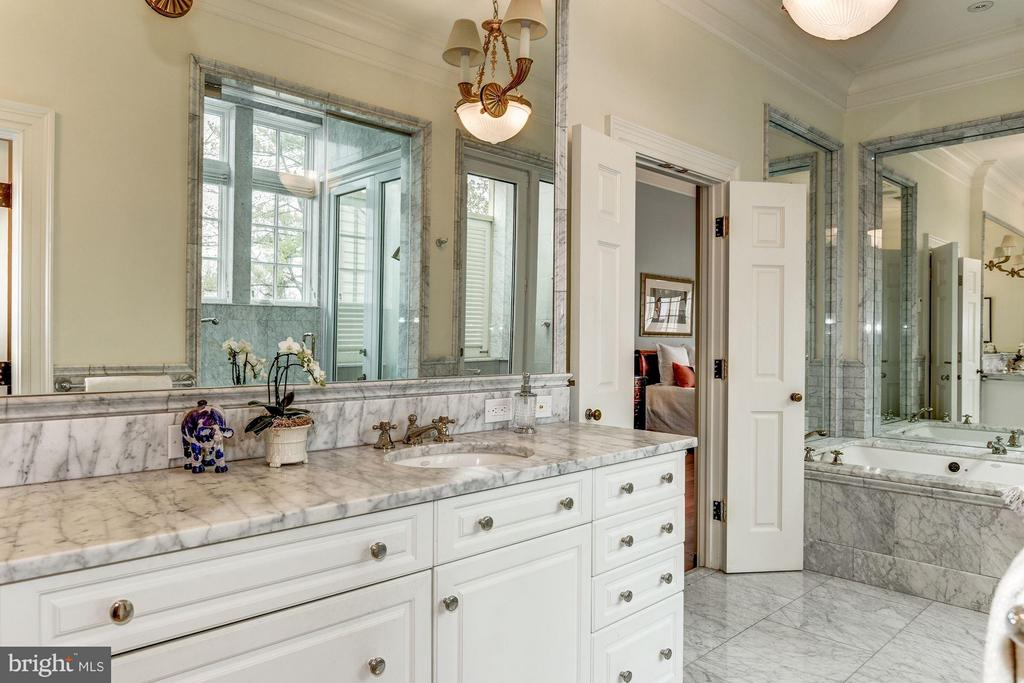 Double sinks, marble bath - 3101 CHAIN BRIDGE RD NW, WASHINGTON
