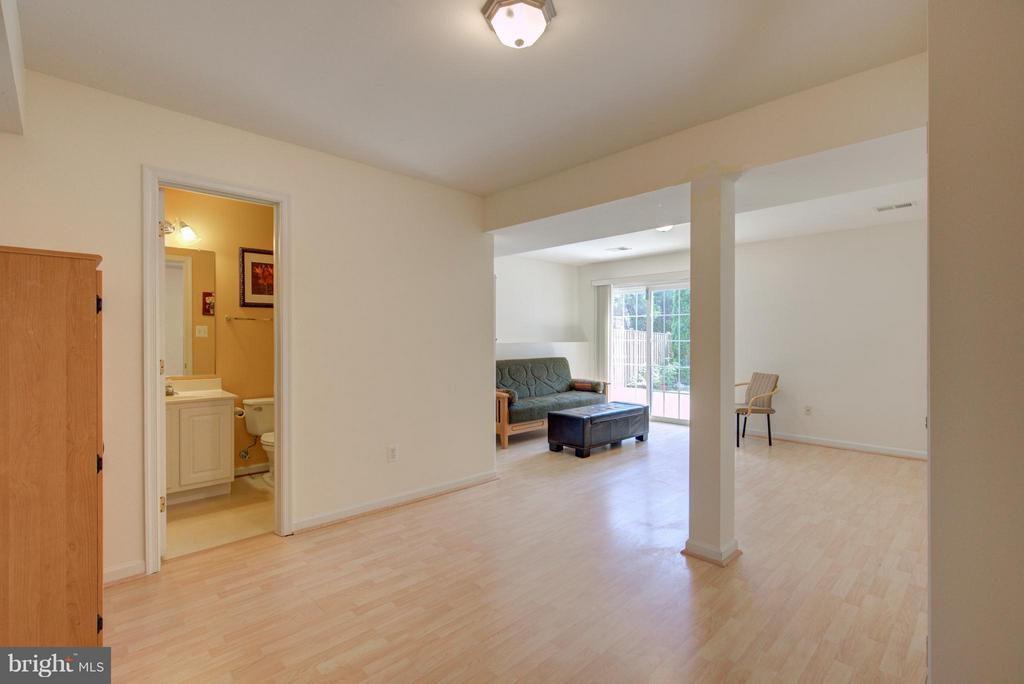 Lower level with walk-out and full bath - 545 TULIPTREE SQ NE, LEESBURG