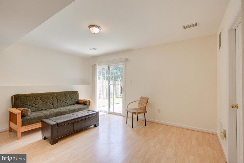 Family Room in the lower level - 545 TULIPTREE SQ NE, LEESBURG
