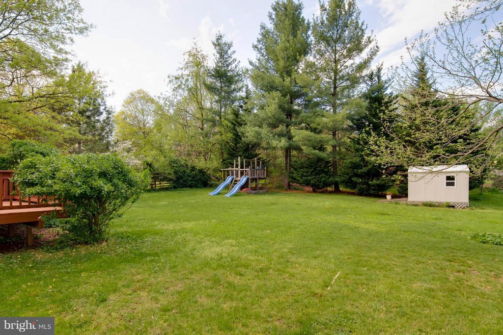 Open back yard - 12806 KETTERING DR, HERNDON