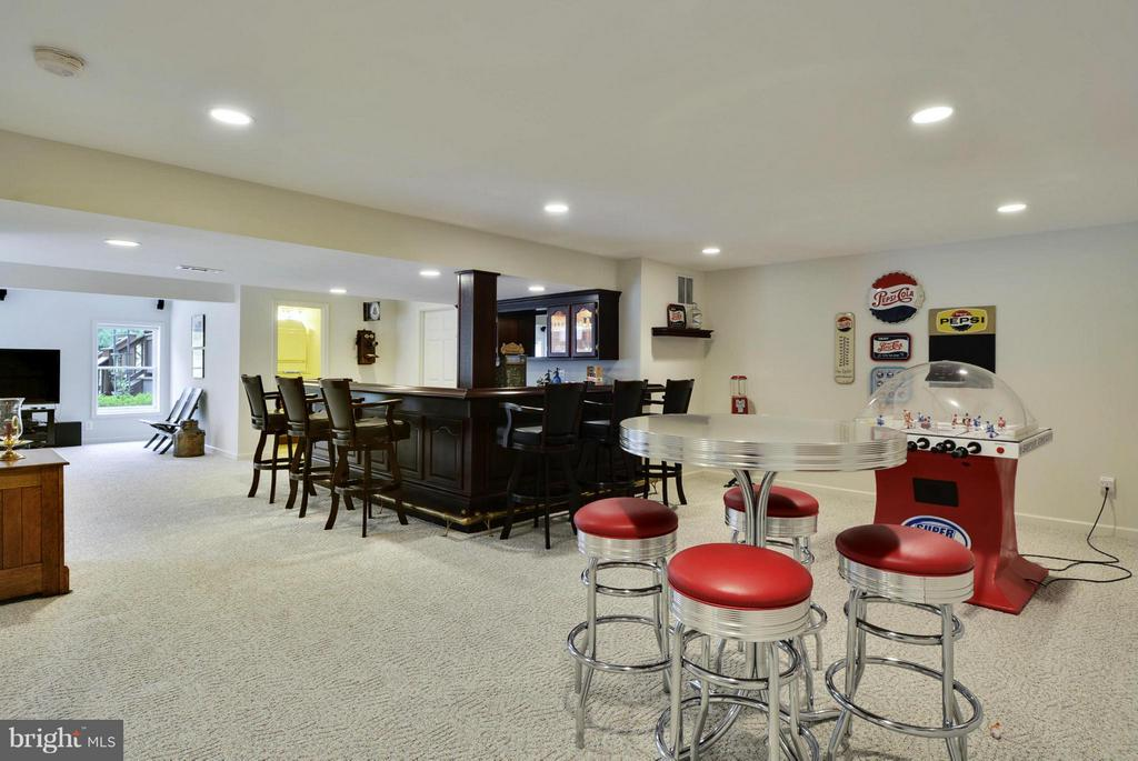 Lower Level Rec Room w/ Bar - 1321 DASHER LN, RESTON
