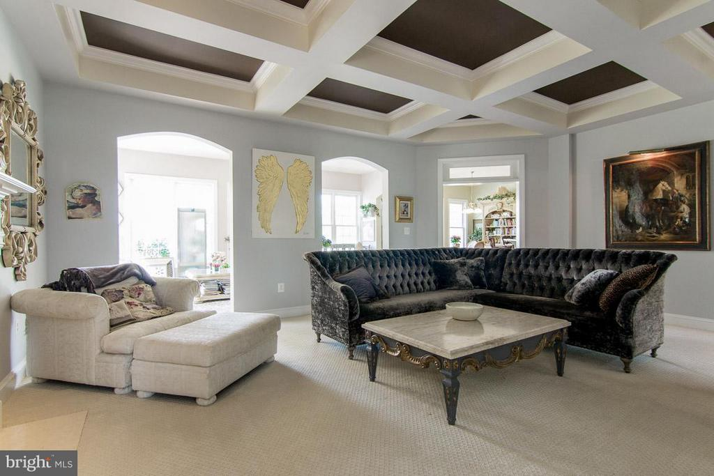 Coffered ceiling and gas fireplace - 38414 DITCHLING PL, HAMILTON