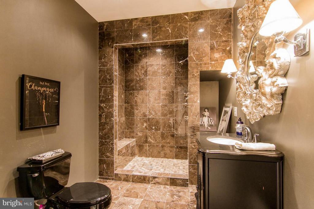 Marble bathroom in basement - 38414 DITCHLING PL, HAMILTON