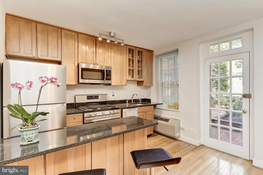 Open Kitchen with Stainless Steel Appliances - 2410 20TH ST NW #8, WASHINGTON